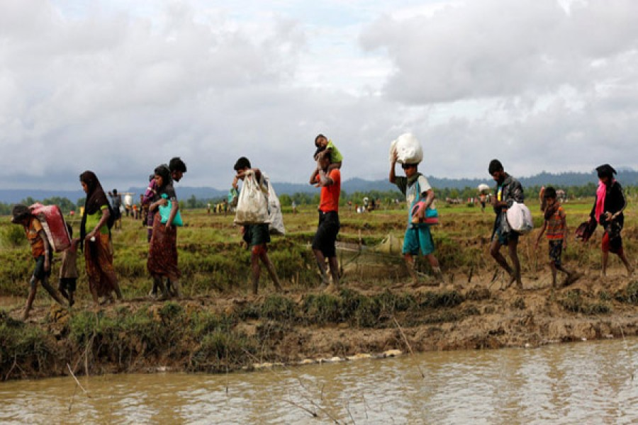 Nearly 60,000 Rohingya Flee Myanmar