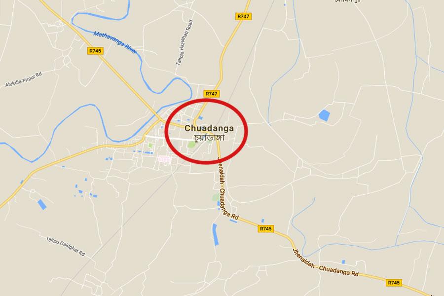 Google map showing Chuadanga district