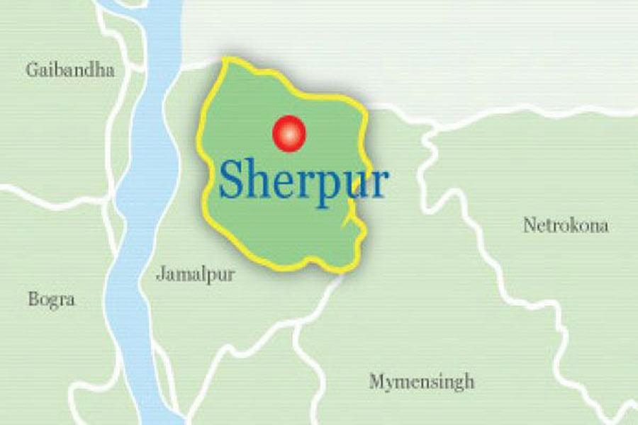 Google map showing Sherpur district
