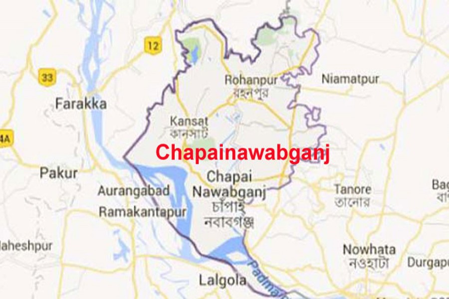 Google map showing Chapainawabganj district