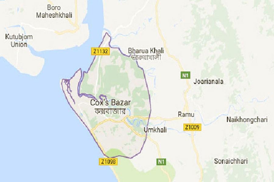 Google map showing  Cox's Bazar district