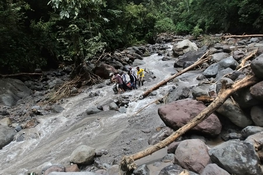 Rescuers carry the body of a victim after a flood hit Dua Warna waterfall in Sibolangit, North Sumatra, Indonesia, Monday, May 16, 2016 (AP file photo used for representation)