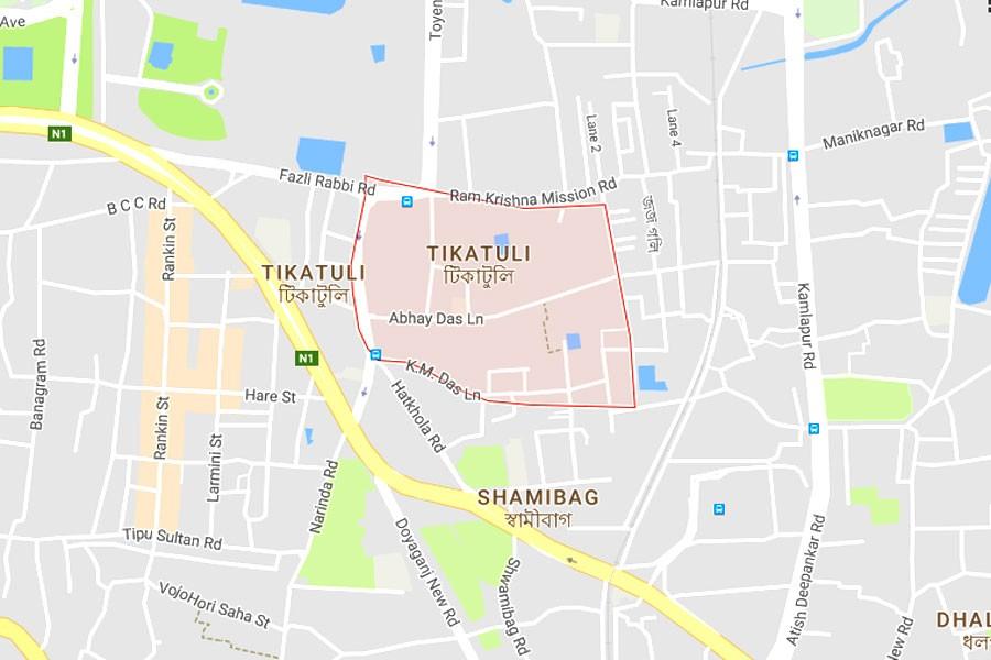 Google map showing Tikatuli area