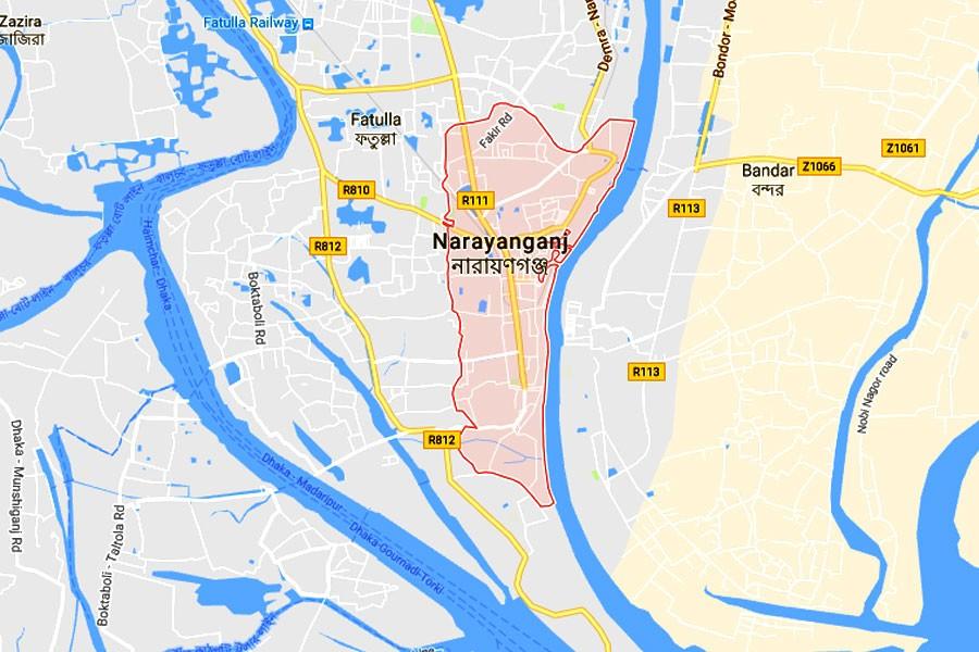 Google map showing Narayanganj area