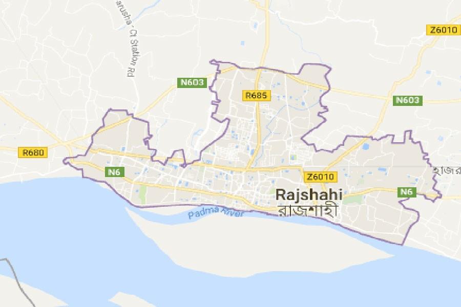 Google map showing Rajshahi district