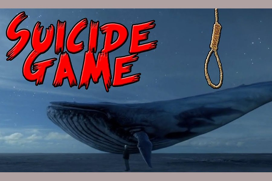 Horrifying blue whale game