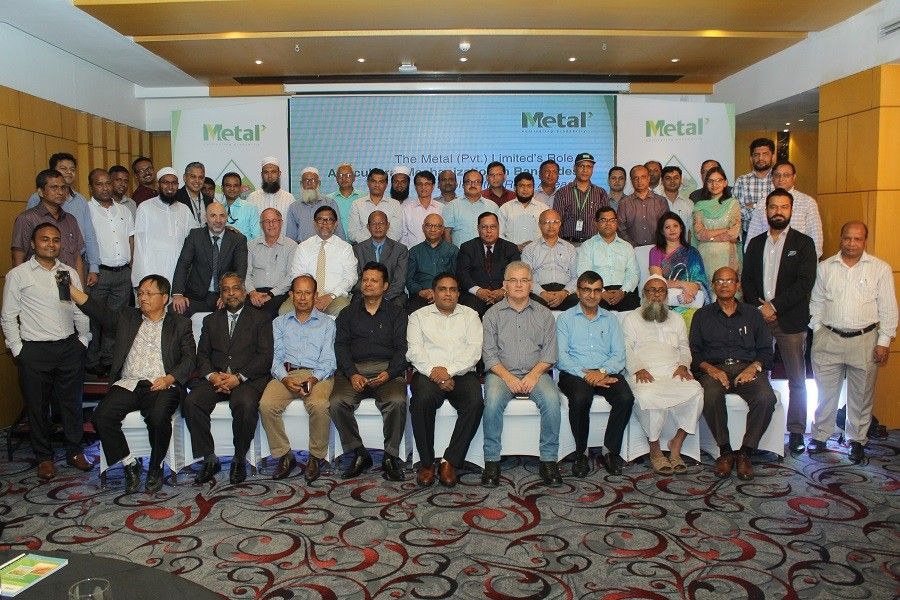 Guests and discussants of the opinion shearing meeting, titled 'Metal (Pvt.) Limited's role in agricultural mechanization in Bangladesh: Explore the road ahead', at a Gulshan hotel in capital Dhaka on Wednesday.