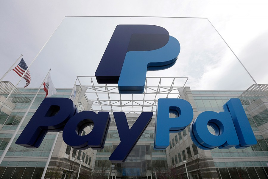 AP file photo shows PayPal's headquarters in San Jose, California.