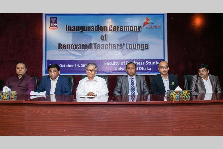 Inauguration ceremony of  renovated teachers' lounge at Faculty of Business Studies of Dhaka University.