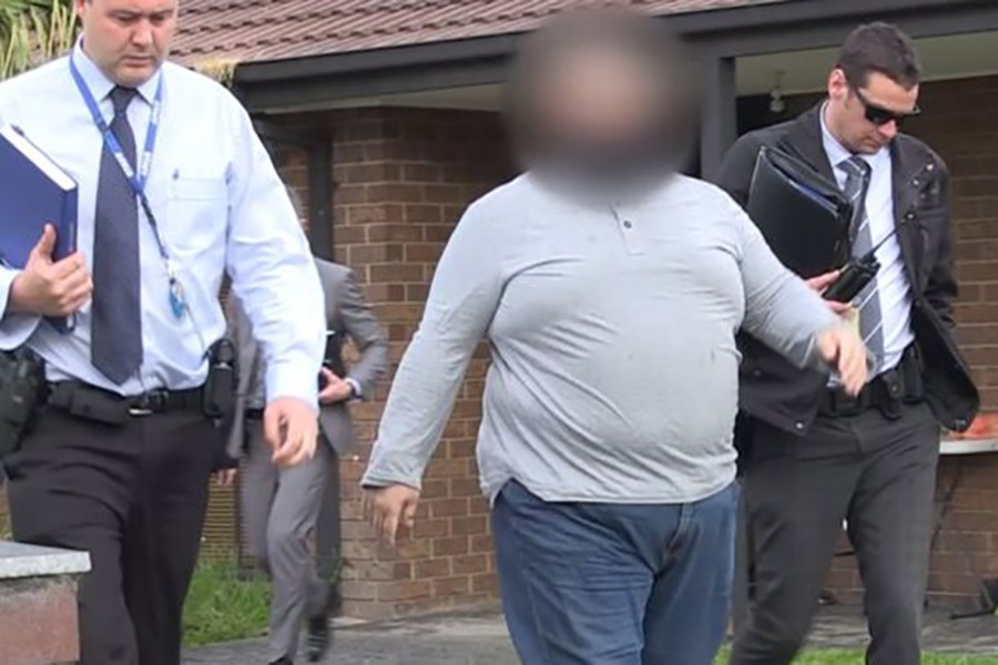 Police initially released blurred images of the man after his arrest on Tuesday. - Victoria police