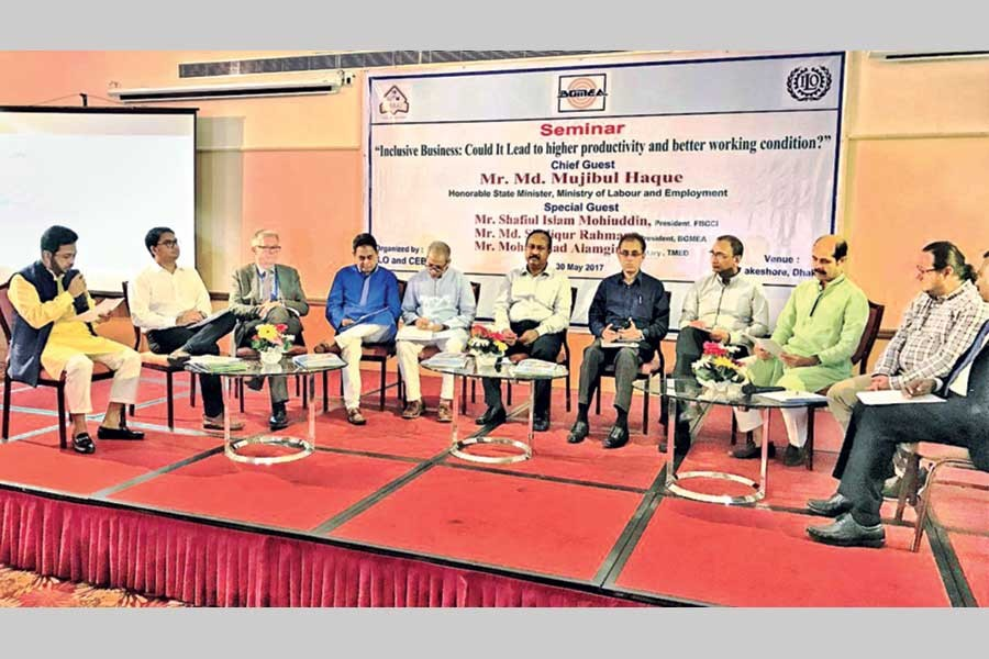 A discussion meeting organised by The Centre  of Excellence for the Bangladesh Apparel Industries - CEBAI photo