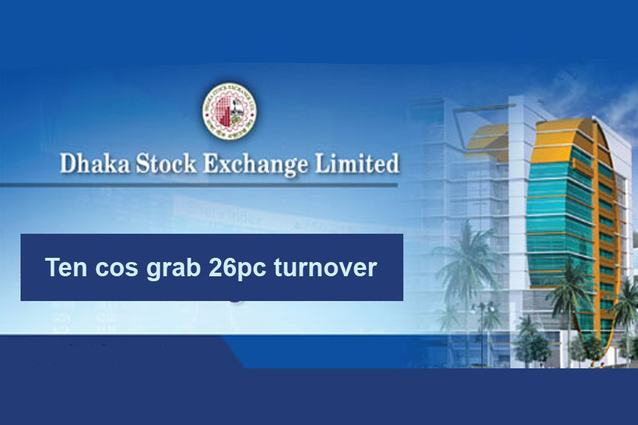 Ten cos grab 26pc turnover on DSE