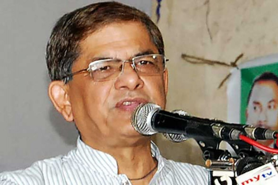 Speaking at a press conference at the party's Nayapaltan central office, party secretary general Mirza Fakhrul Islam Alamgir said they will have to obey 23 conditions when holding the rally. File Photo