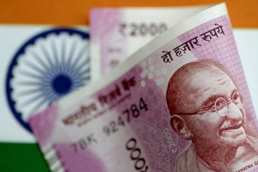 A Rupee note is seen in this illustration photo June 1, 2017. Reuters /Illustration