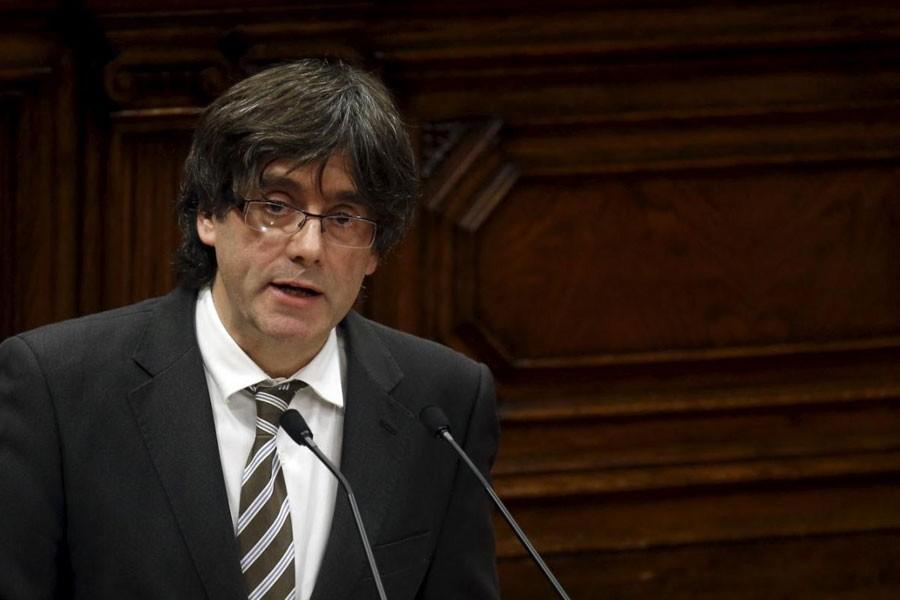 Former Catalan President Carles Puigdemont (Reuters photo)