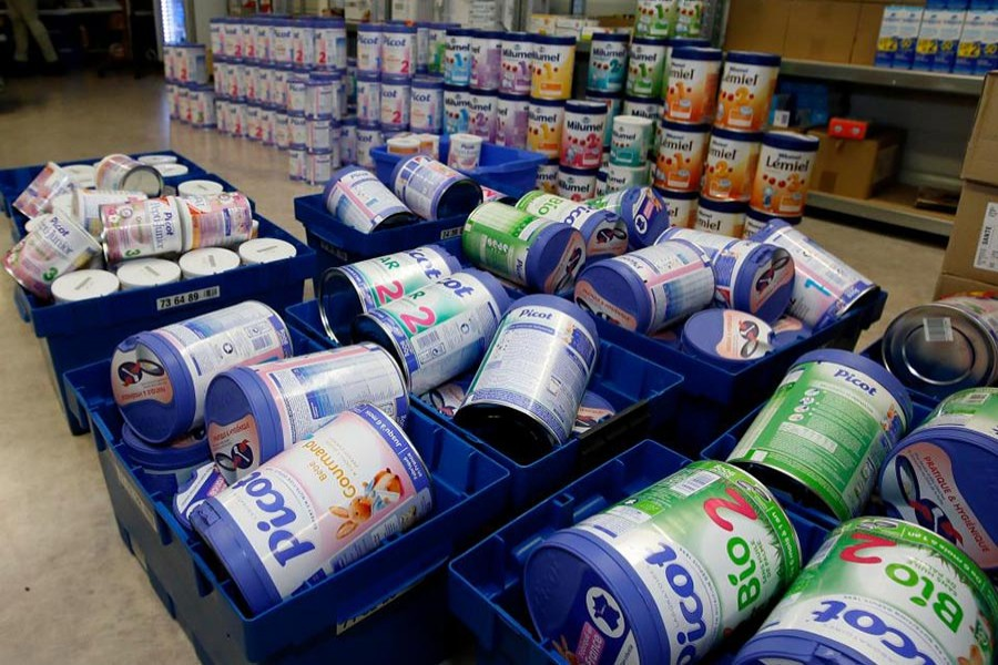 Millions of boxes of powdered milk have been recalled worldwide following a salmonella outbreak last year. - Reuters file photo