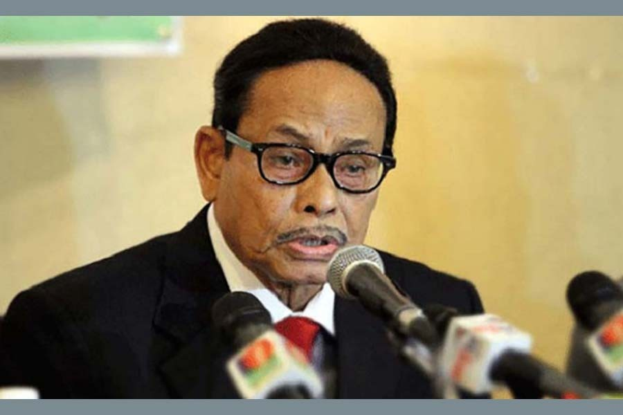 Ershad says no trust in caretaker government