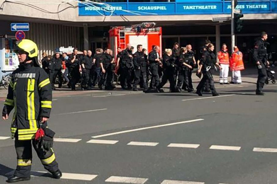 Van drives into crowd in Germany, three dead