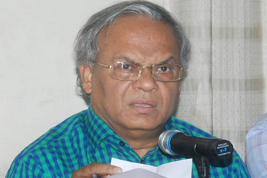 File photo shows BNP senior joint secretary general Ruhul Kabir Rizvi