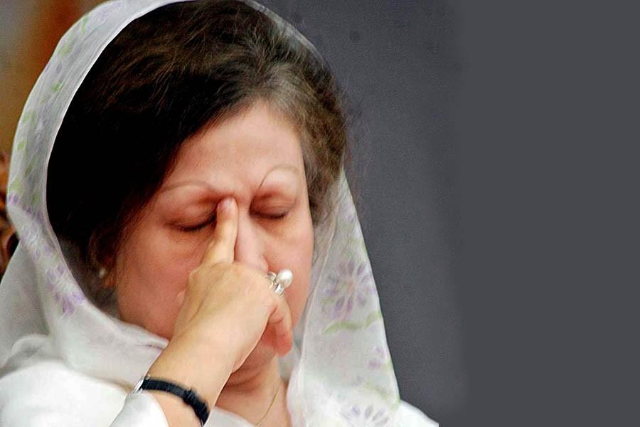 BNP Chairperson Khaleda Zia seen in this undated Focus Bangla photo