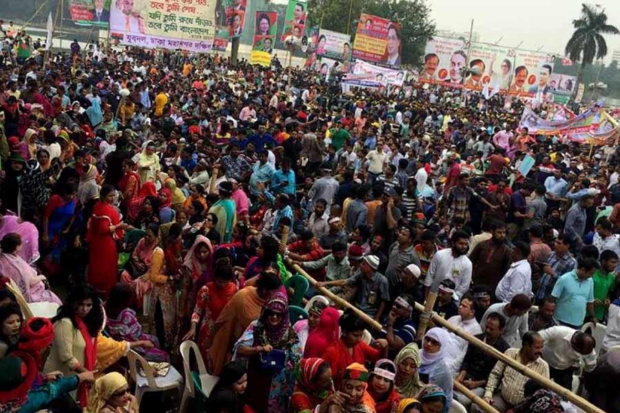 Oikyafront's rally begins at Suhrawardy Udyan