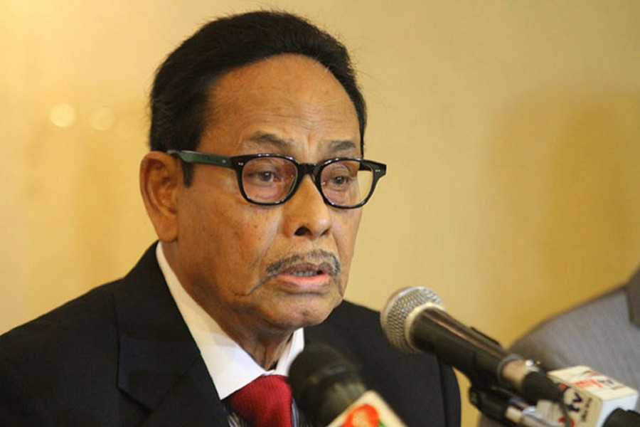 Jatiya Party Chairman HM Ershad seen in this undated file photo — via UNB