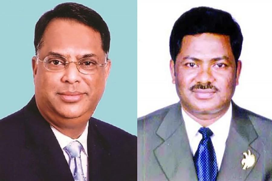BNP leaders Iqbal Hasan Mahmud Tuku (L) and Ruhul Kuddus Talukdar Dulu are seen in this photo collage