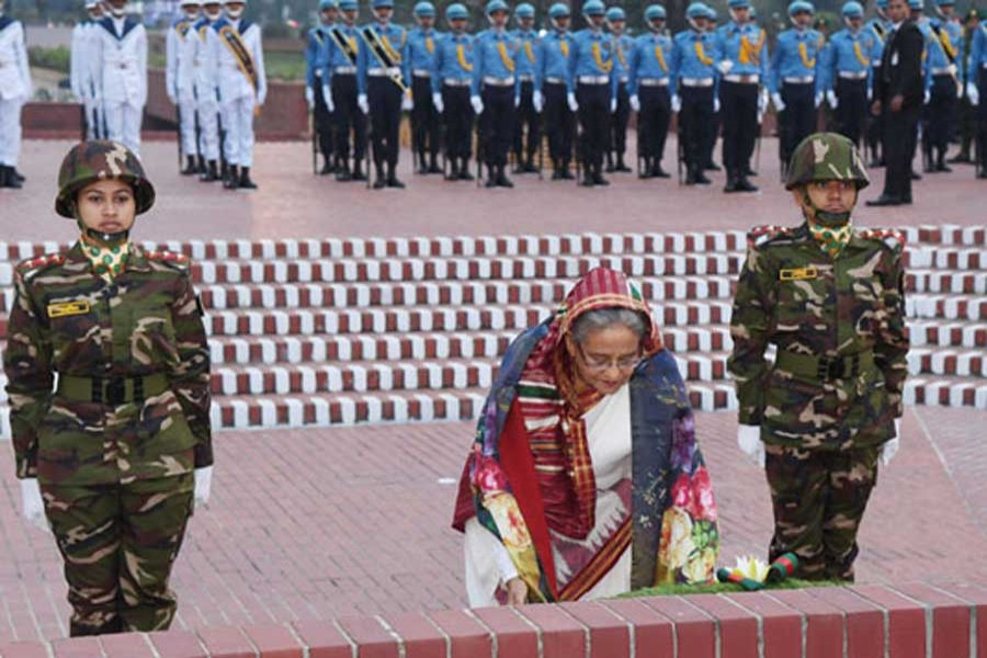 President, PM pay homage to Liberation War martyrs