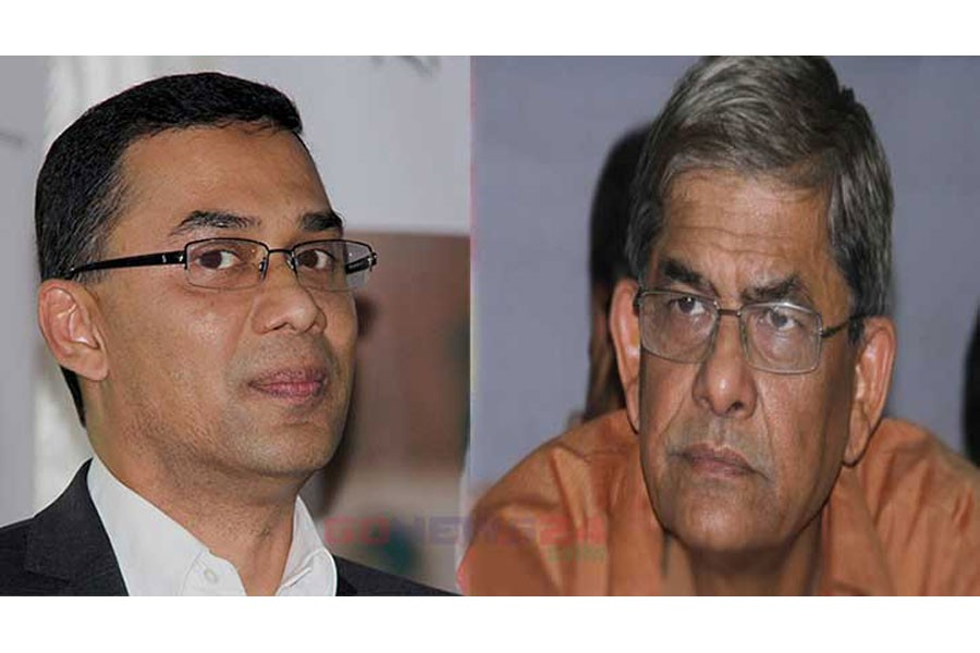 Tarique, Fakhrul among six BNP leaders sued