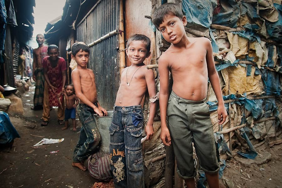 Poverty: Up and down the line