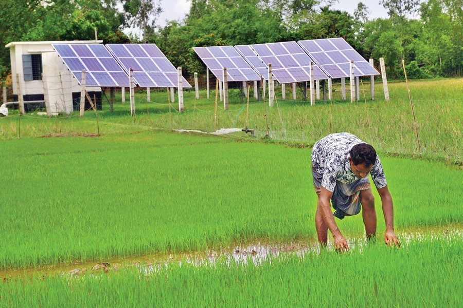 Use of solar power for irrigation