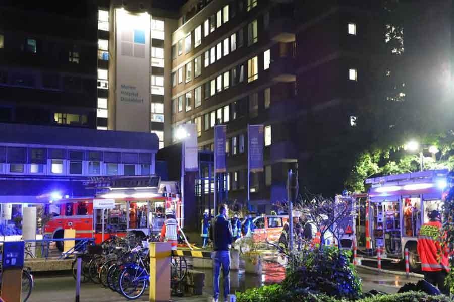One dead, 19 injured in German hospital fire