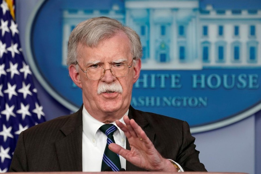 US President Donald Trump's national security adviser John Bolton speaks during a press briefing at the White House in Washington, US, November 27, 2018 - Reuters/File Photo