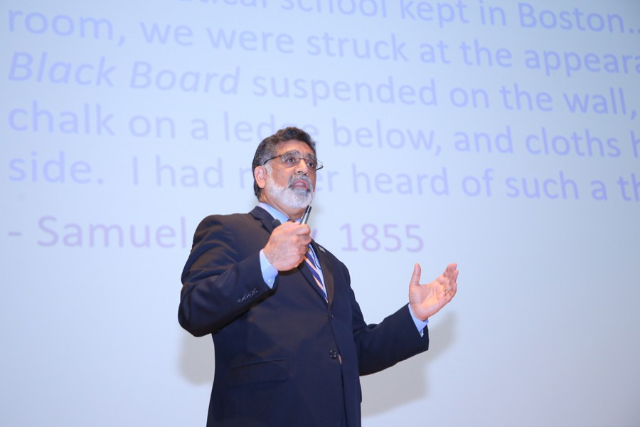Dr. Vistasp M. Karbhari, President,UTA speaking an international symposium at the IUB campus