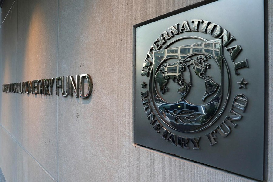 International Monetary Fund (IMF) logo is seen outside the headquarters building in Washington, US, in this undated Reuters photo