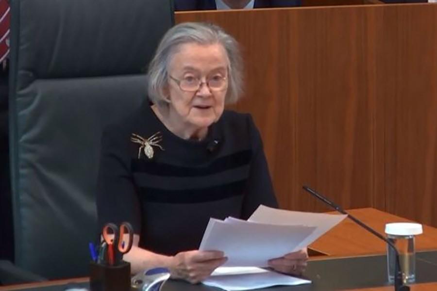 UK Supreme Court's President Lady Hale