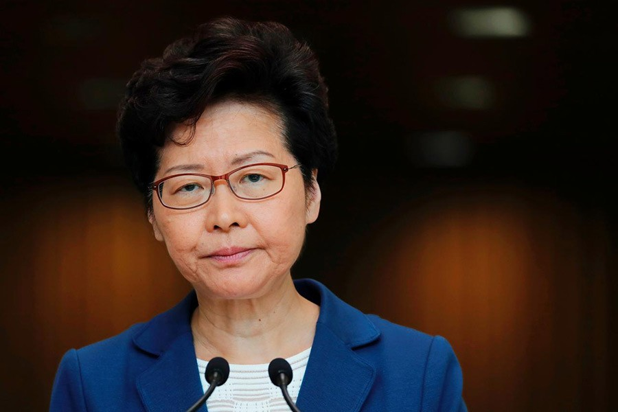 Hong Kong leader Lam does not rule out Beijing help
