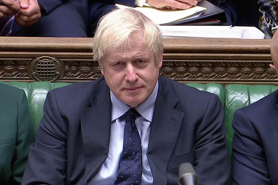 Britain's Prime Minister Boris Johnson seen in this undated Reuters photo