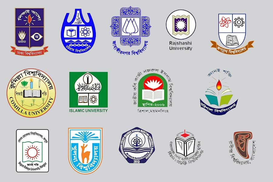 Monograms of some public universities of Bangladesh