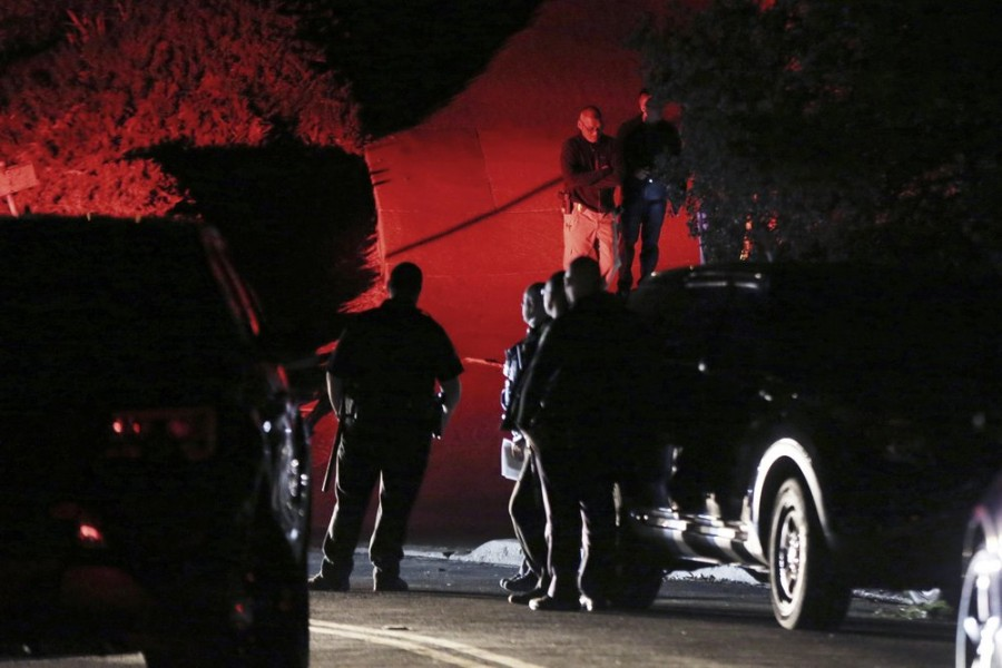 Contra Costa County Sheriff deputies investigate a multiple shooting in Orinda, Calif., on Thursday, Oct. 31, 2019 - Ray Chavez/East Bay Times via AP