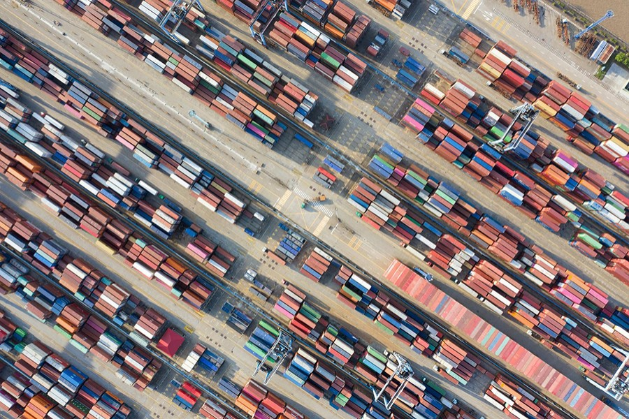 Containers are seen at a port in Ningbo, Zhejiang province, China on May 28, 2019 — Reuters/Files