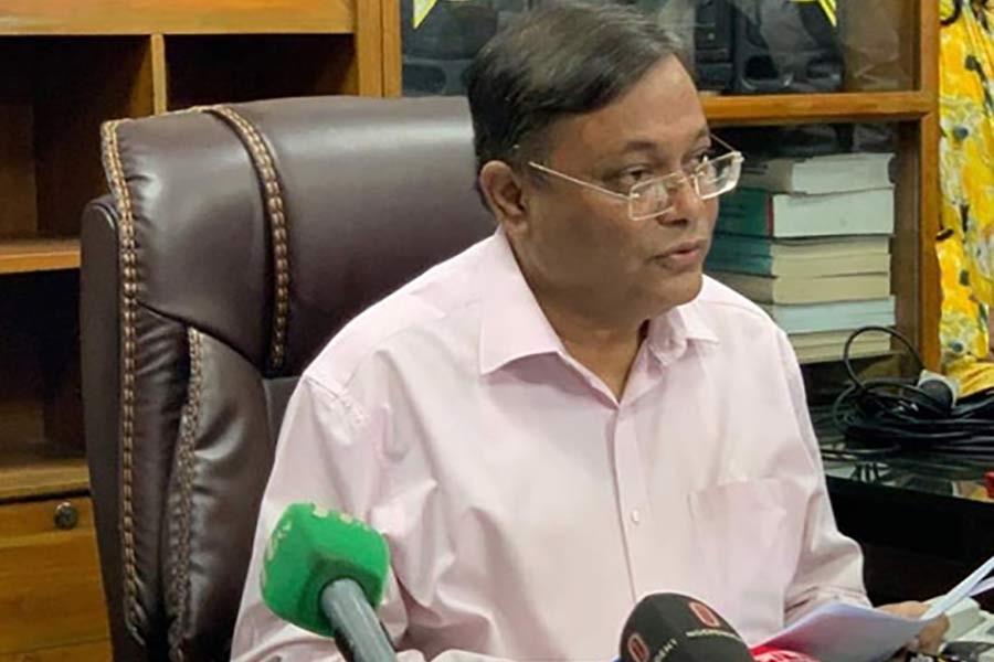 Hasan Mahmud describes BNP's letter as hollow
