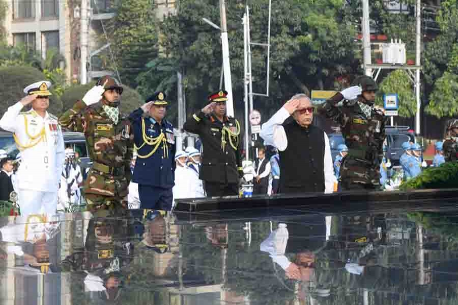 President pays homage to Armed Forces martyrs