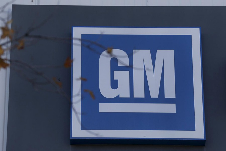 The GM logo is seen in this undated Reuters photo