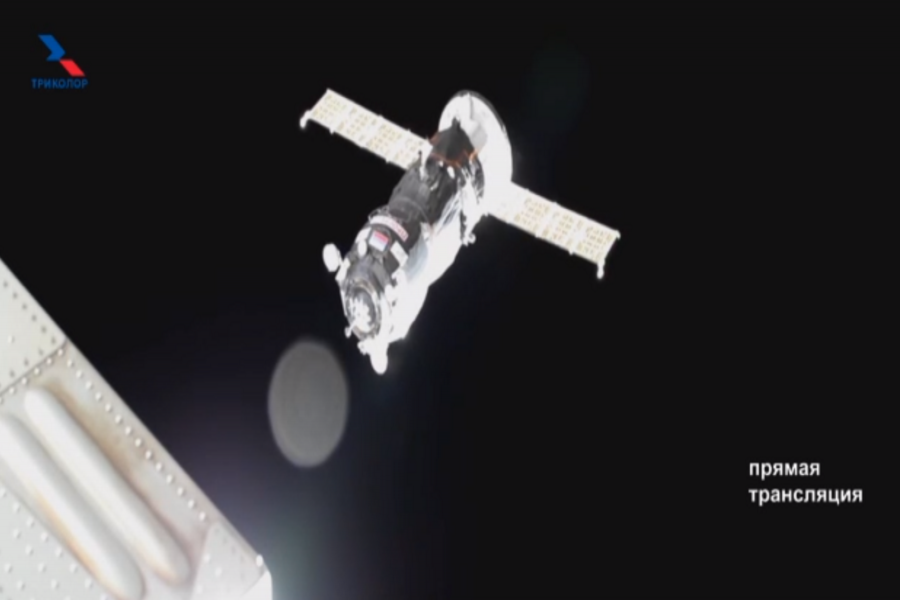 Russian cargo ship successfully docks with ISS