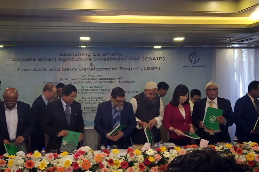 Govt initiates climate smart agri projects