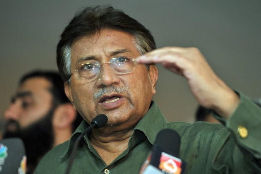 Pakistan's former President Pervez Musharraf speaks during a news conference in Dubai March 23, 2013. REUTERS/Mohammad Abu Oma