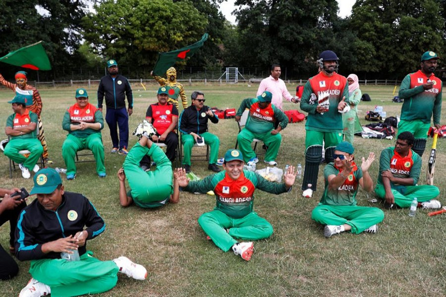 Bangladesh players during the warm up match between Afghanistan v Bangladesh. (Reuters)