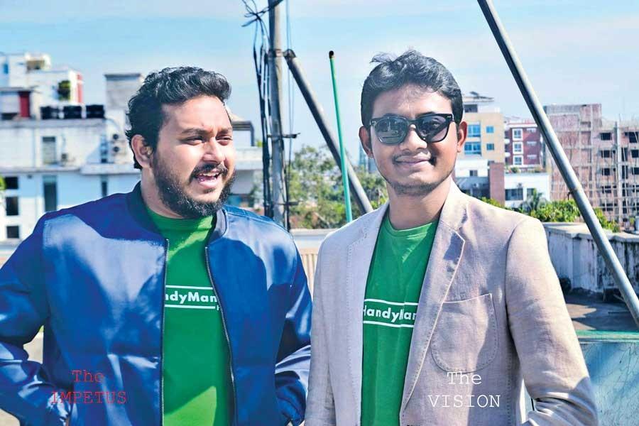 From left, Rezaur Rahman Robin and Shah Paran
