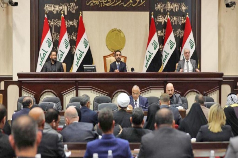 "The Iraqi parliament on January 05, 2020 voted to remove US troops from Iraq. In an extraordinary session, lawmakers backed a resolution to ask the government to end an agreement with Washington to station 5,200 troops in Iraq. The resolution specifically calls for ending a 2014 agreement that allows Washington to send troops to Iraq to help in the fight against the ""Islamic State"" group. 	—Photo: Reuters"
